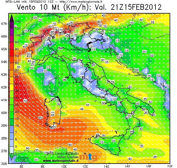 Cartina Meteorologica Dell Italia.News Flash Forti Venti Sui Mari Del Sud Italia Meteogiornale It