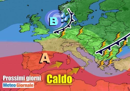 immagine articolo meteo nuovo caldo brutale verso europa