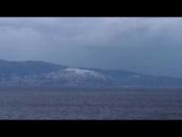 Stretto di Messina sotto la neve