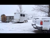 Oltre 10 cm di neve nel Sud California, il video da Temecula