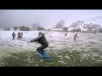 Sud California, il surf... sulla neve!