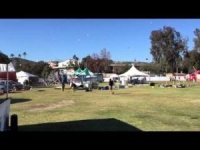 Improvviso vortice d'aria Pasadena in California
