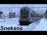 Neve! Treni nel caos in Danimarca. VIDEO da Roskilde