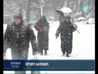 Anche la Georgia sotto la neve! VIDEO della grande nevicata di Batumi