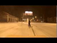 Odessa: si scia sulle strade coperte dal ghiaccio