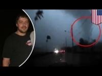 Sorpreso dal tornado mentre si trova in auto: attimi di panico