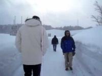 Camminando nella neve ad Aomori, la città più nevosa al mondo