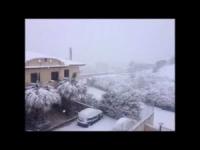 Video di neve da Agrigento e provincia