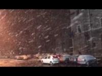 Terni, Umbria, la nevicata notturna