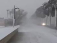Pescara, bufera di neve. Temperatura sotto zero