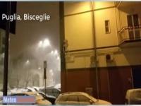 Bisceglie (Puglia) sotto la bufera di neve dell'Epifania 2017
