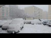 Bufera di neve a Molfetta