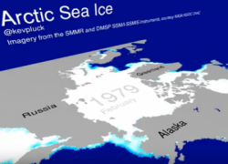 Animazione evoluzione ghiaccio artico dal 1979 al 2016