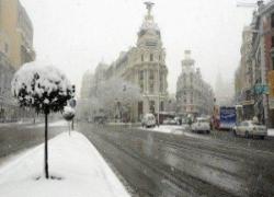La nevicata del 23 marzo su Madrid
