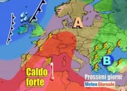 immagine notizia meteo 7 giorni temporali italia temperature in forte aumento