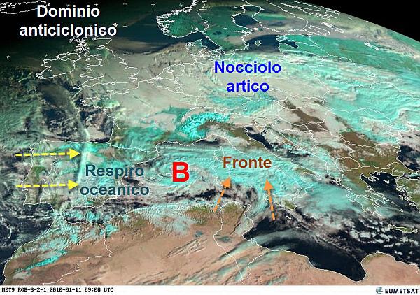 immagine 1 del capitolo 1 del reportage interferenze atlantiche vortice perturbato in rotta verso l italia