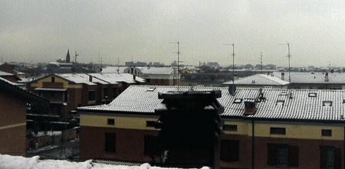 immagine 2 del capitolo 1 del reportage invernata in atto nevica a basse quote sull appennino fiocchi in val padana