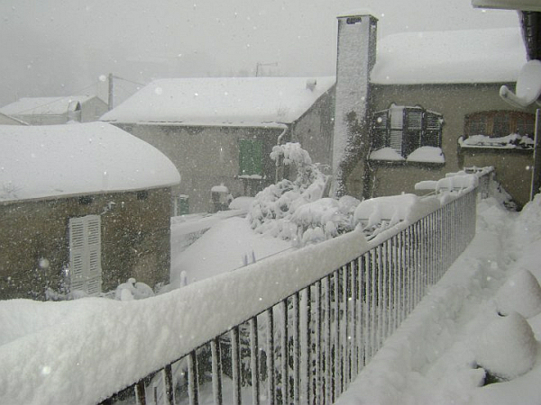 immagine 2 del capitolo 1 del reportage grande neve in corsica apoteosi bianca sulle zone del centro nord