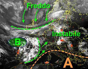 immagine articolo alta pressione sotto torchio ad ovest presto temporali al nord