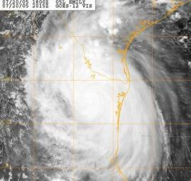 immagine articolo emily dopo il landfall sulle coste messicane di tamaulipas si e rapidamente indebolito