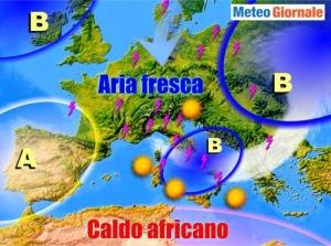immagine news meteo-con-caldo-estivo-rischio-temporali-anche-intensi