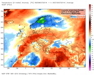 immagine news clima europa caldo anomalo freddo polare ricacciato verso nord