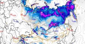 immagine news meteo clima copertura nevosa russa formazione anticiclone siberiano