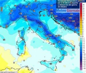 immagine news meteo arriva il freddo crollo temperature 10 gradi in meno