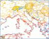 Le temperature minime della notte in Italia