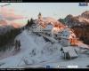 Webcam alpine vestite da inverno. Le immagini della neve