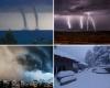 Estremi d'Europa: gran caldo a ovest, gelo ad est, temporali a sud. Caldissimo in Argentina