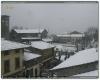 Nevicata mattutina sulle pianure toscane. Gelicidio in Lunigiana