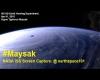 Volare sopra il Super Tifone Maysak: ecco come appare