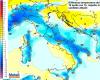 Crollo termico domenicale: aria fredda in rotta anche verso il Sud