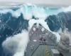Nave militare travolta da super onda di 20 metri: impatto mostruoso, video