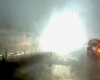 Super esplosione nella stazione del treno, dopo la caduta di un fulmine