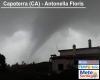 Tromba marina che diventa tromba d'aria in Sardegna, immagini del vortice e i danni