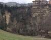 Enorme frana in movimento in Abruzzo, case in bilico. Video impressionante