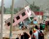 Perù, immagini drammatiche: casa travolta dal fiume in piena