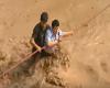Perù: spettacolare salvataggio dal fiume di fango