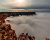 Grand Canyon scompare all'improvviso, inghiottito da un oceano di nubi