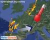 Caldissimo anticiclone verso Italia, ma ci sono anche forti temporali