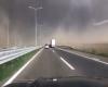 Meteo estremo: furioso temporale Belgrado blocca il traffico in autostrada (VIDEO)
