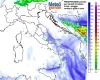 Meteo martedì 24: altre piogge su Abruzzo e al Sud, con neve sulla dorsale