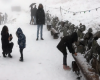 Prime forti nevicate stagionali in alcune zone della Cina