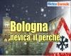 Meteo a Bologna, è iniziata a cadere la neve. Un esempio di complessa previsione locale