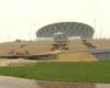 Russia, nubifragi su Volgograd e cede lo stadio dei mondiali