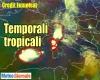 DIRETTA METEO: super celle del temporale, previsione prossime ore