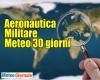 METEO dell'Aeronautica Militare 30 giorni: piomba l'Autunno