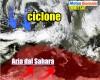 Evoluzione meteo: eccezionale CICLONE oceanico FRONTEGGIA anticiclone d'Africa
